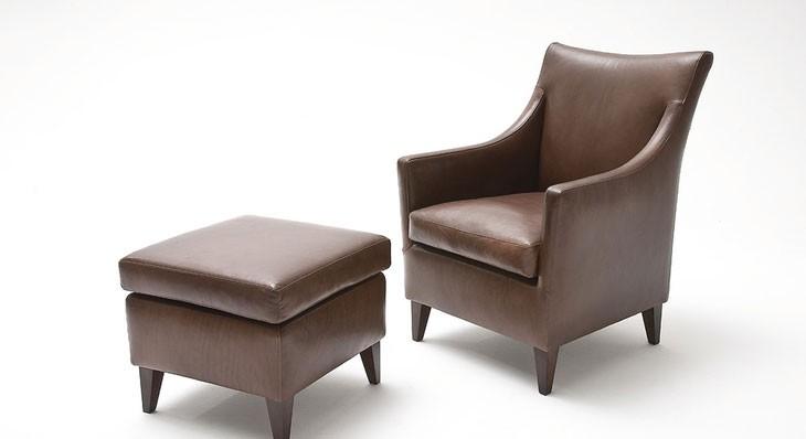 MONROE 1 Sessel mit Hocker