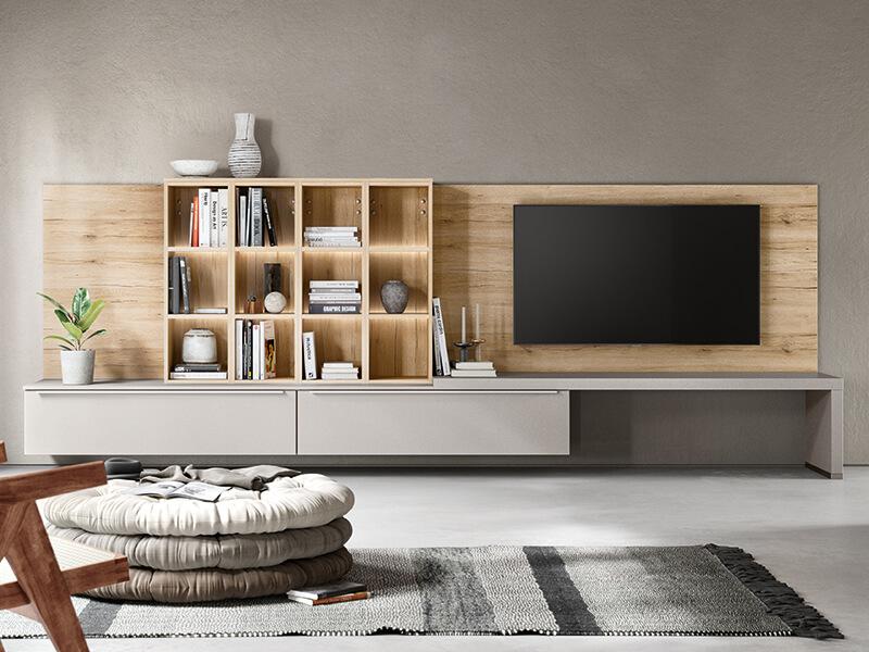 Wohnzimmermöbel Holz hell grau matt bei Wohn Schick