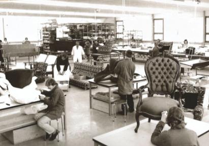 Die Wohn Schick Polsterei in den 60er Jahren