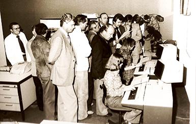 Die ersten Computer der des Möbelhändlers Wohn Schick