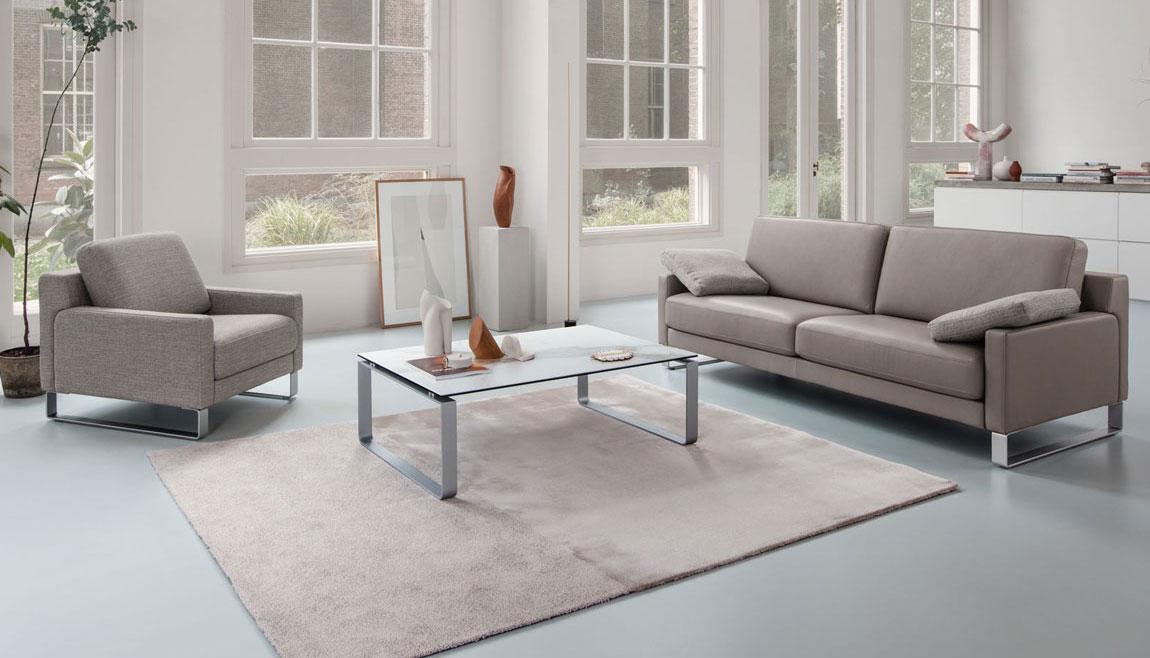 In unserem Online Shop von Wohn Schick finden Sie Rolf Benz EGO Polstergarinturen