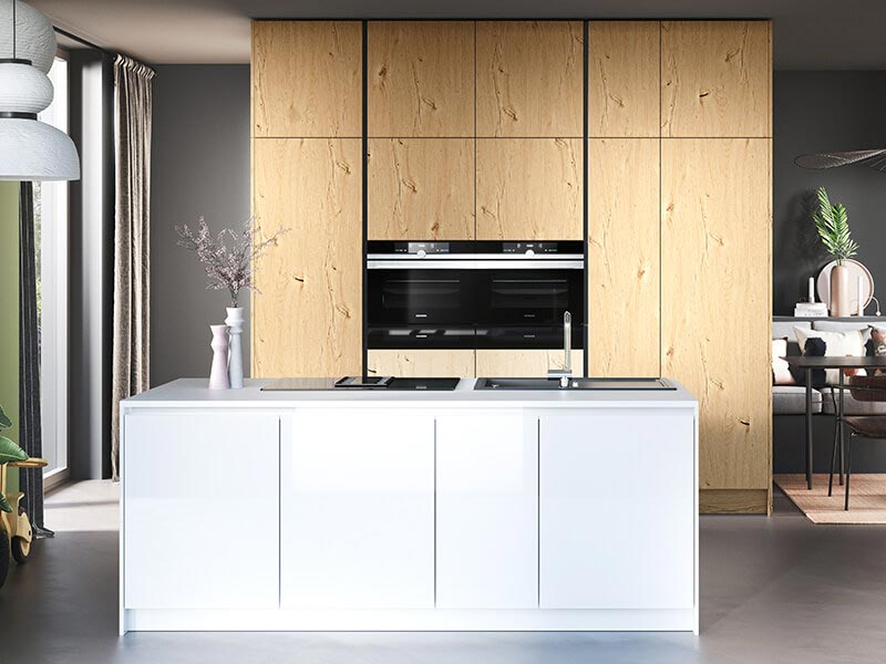 moderne Küche zweizeilig Häcker bei Wohn Schick