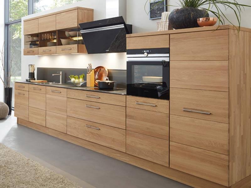 Küchenzeile Decke E-Geräte Massivholz