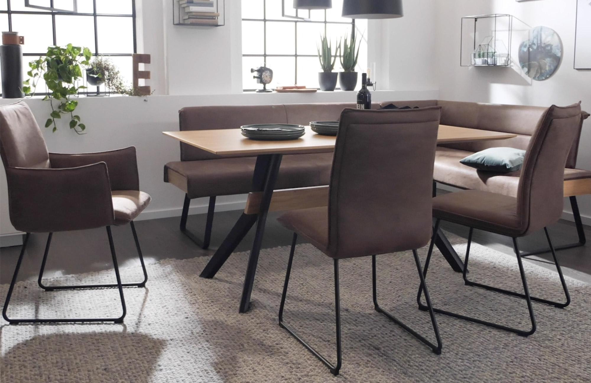 Stuhl und bank braun tisch mit holz optik Interliving bei Wohn Schick