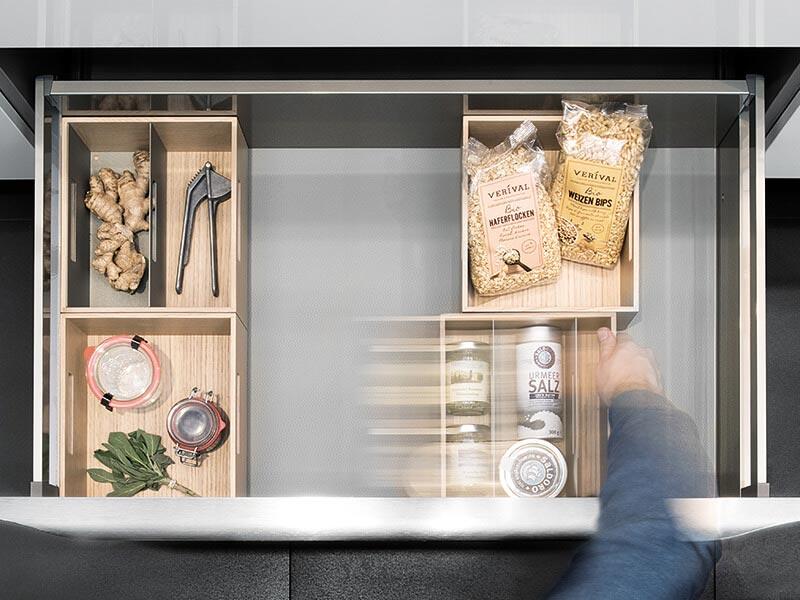 Stauraum Küche Schubkasten bei Wohn Schick