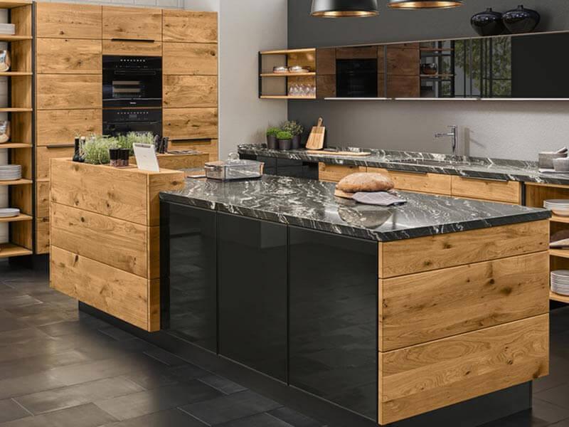 Deker Massivholz Marmor Design Küche
