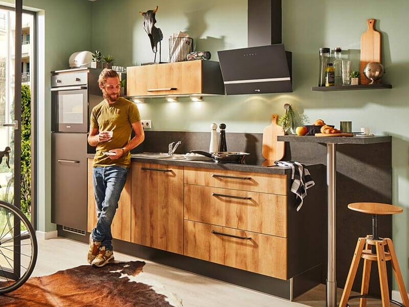 Pino Küchenzeile klein mit kleinem Tisch bei Wohn Schick