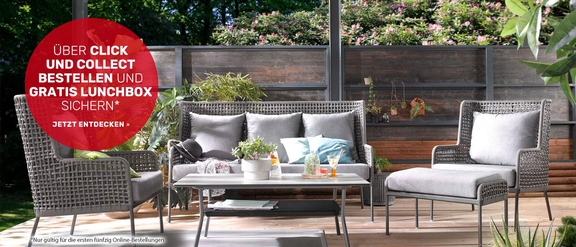 Outdoor Möbel - Im Wohn Schick Online Shop bestellen - Click & Collect