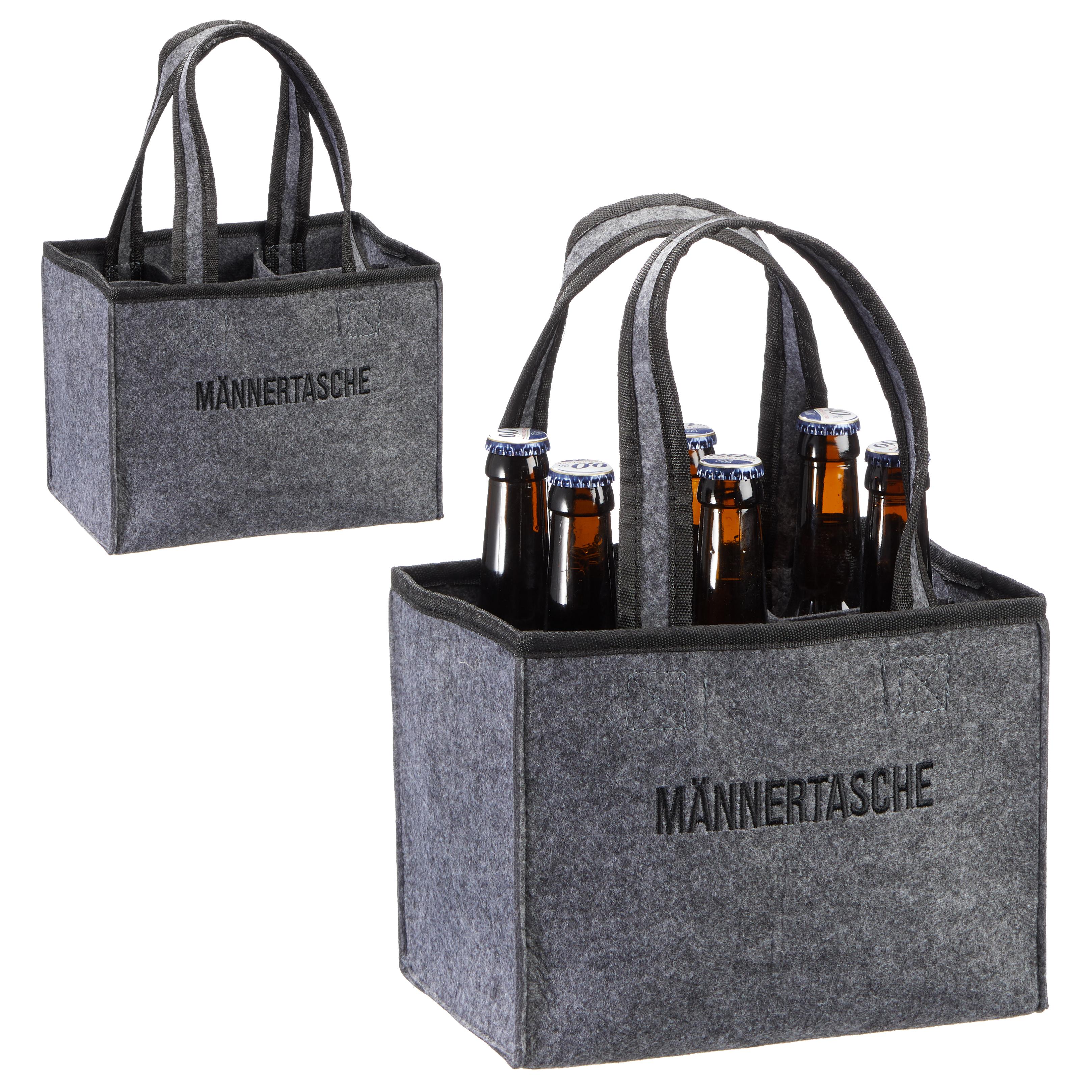 Männertasche Flaschenträger