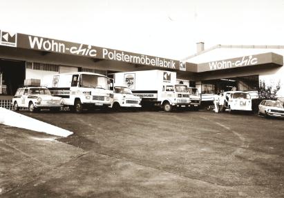 Die erste Polstermöbelfabrik von Wohn Schick in den 60er Jahren