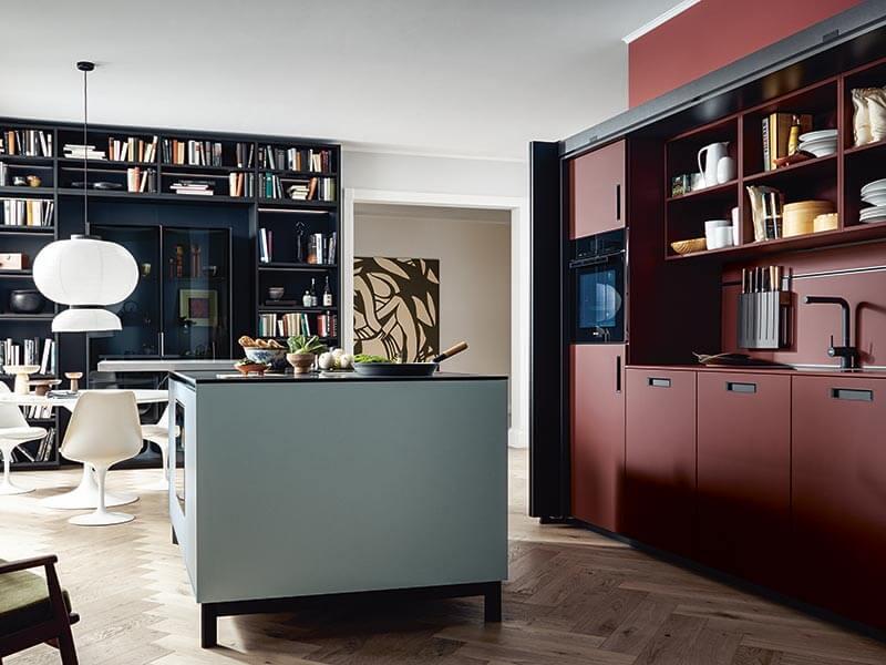 kleine Küche zweizeilig NEXT125 mit Elektrogeräten Wohn Schick