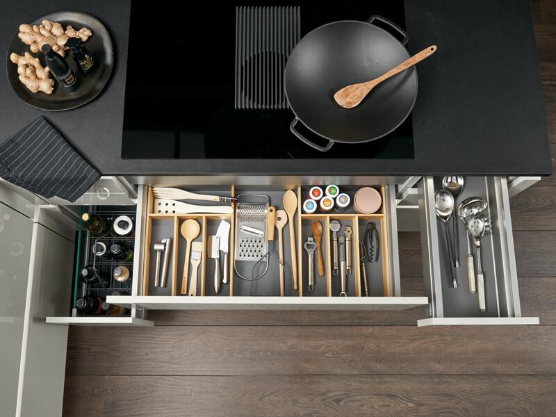 nolte Küche Schubladen Stauraum bei Wohn Schick